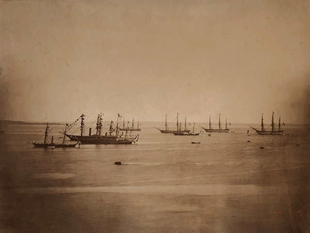 Gustave Le Gray, 'Flotte Franco-Anglais en Rade de Cherbourg', 1858/1858, Contemporary Works/Vintage Works