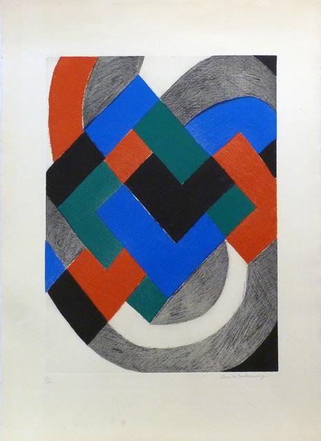 Sonia Delaunay, ' Sans titre', ca. 1970, Le Coin des Arts