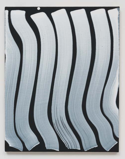 , 'Untitled (Strokes, White on Black),' 2013, Roberts & Tilton