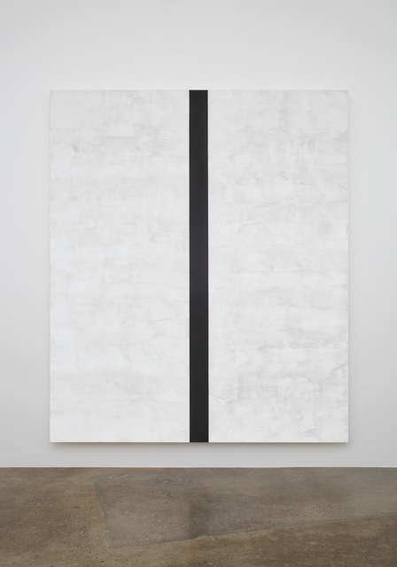 , 'Untitled (White, Black Band, Beveled),' 2017, Lehmann Maupin