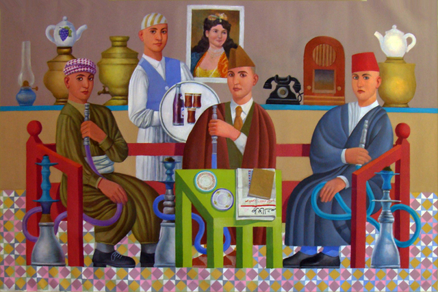, 'Cafe,' 2015, Hafez Gallery