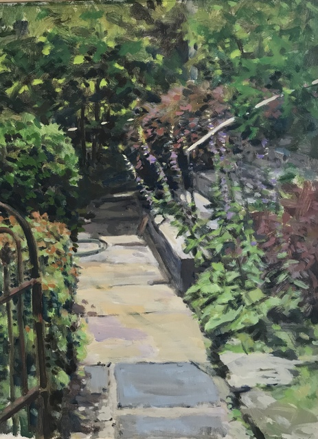 , 'Front Walk with Bellflowers,' 2018, Les Yeux du Monde Gallery