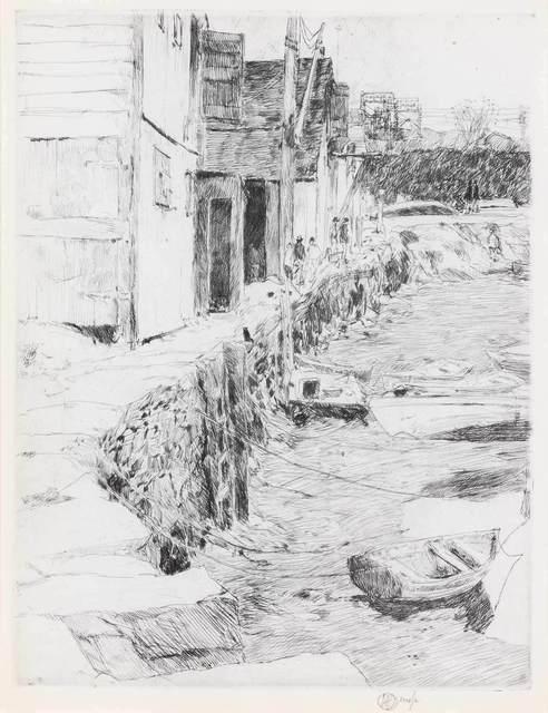 Childe Hassam, 'COS COB DOCK (CORTISSOZ/CLAYTON 58)', 1915, Doyle