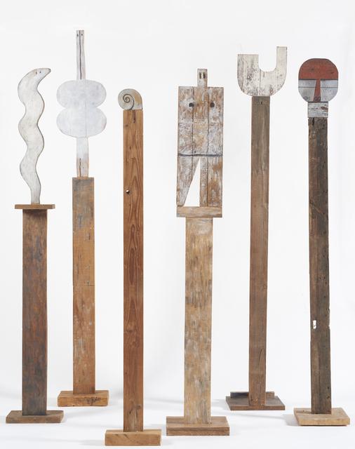 , 'Tótems: Serpiente, 1960; Venus, 1969; Caracol, 1985; Universal Man, 1988; U, 1970;  Máscara, 1988 ,' 1960-1988, Cecilia de Torres Ltd.