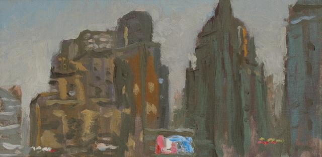 , '都市有霾 City in Smog,' 2013, Shanghai Gallery of Art