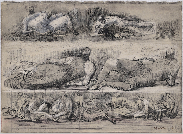 Henry Moore, 'Reclining Figures', 1942, ACA Galleries