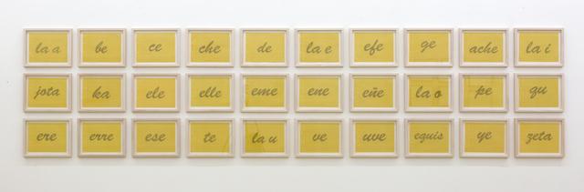 , 'Nominal (las letras),' 2011, Galerie Krinzinger