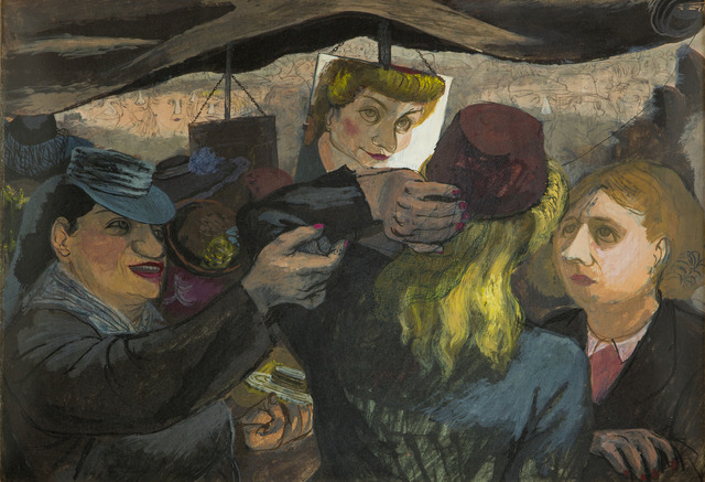 Henry Koerner, 'Hat Shoppers', ca. 1945, Childs Gallery