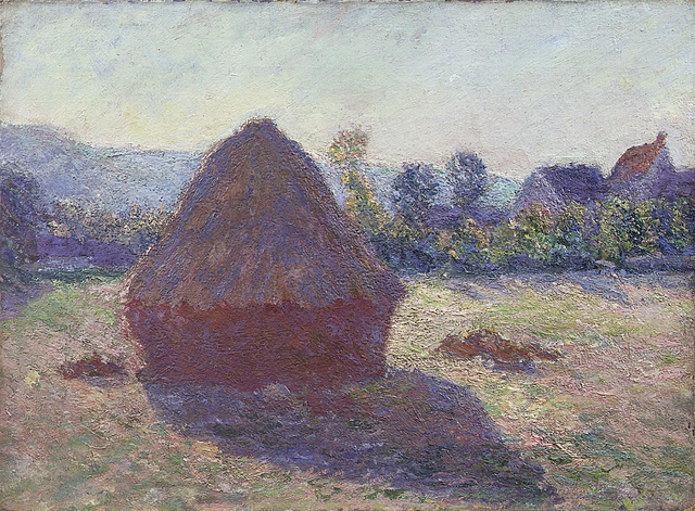, 'Haystack in the evening,' 1891, ARoS Aarhus Art Museum