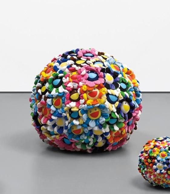 Takashi Murakami, 'Plush Flowerball ', 2008, Sculpture, Polyester, acrylic boa, cotton and polyurethane., Little Art Piece
