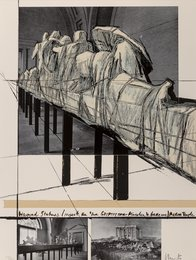 Aegina Temple - Project for the Munich Glyptotek, from Official Arts Portfolio of the XXIVth Olympiad, Seoul, Korea
