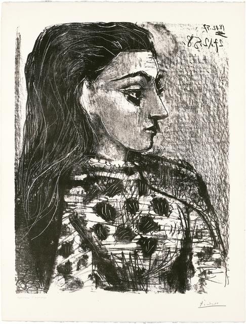 Pablo Picasso, 'Buste au Corsage à Carreaux', 1958, John Szoke