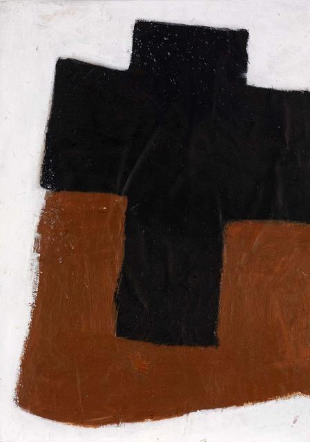 , 'Cross (Black on Brown),' 1969, Osborne Samuel