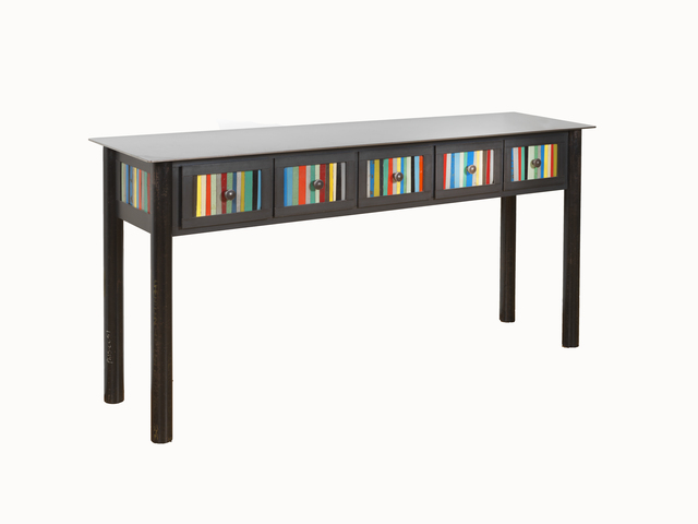 Jim Rose, 'Five Drawer Table', 2016, Design/Decorative Art, Hot-rolled and found painted steel, Gallery Victor Armendariz
