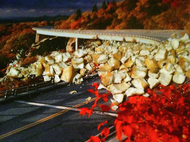 "Nina Katchadourian, 'Pretzel Landslide (""Seat Assignment"" project, 2010--ongoing)', 2012, Catharine Clark Gallery"