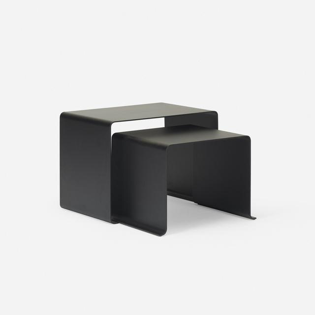 Dieter Rams, '010 nesting tables, set of two', c. 2010, Design/Decorative Art, Enameled aluminum, Rago/Wright