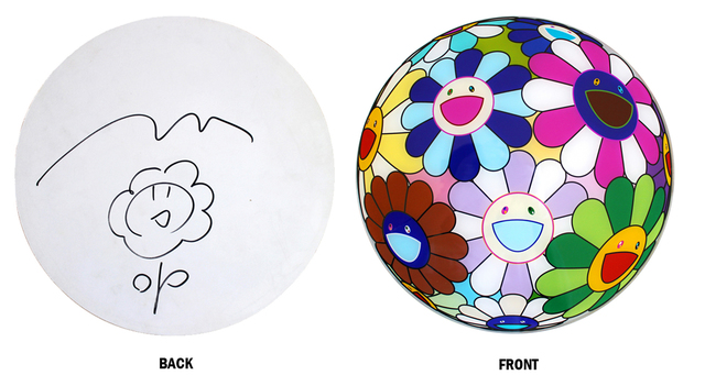 Takashi Murakami, 'Flowerball Disc with Drawing', 2007, EHC Fine Art Gallery Auction