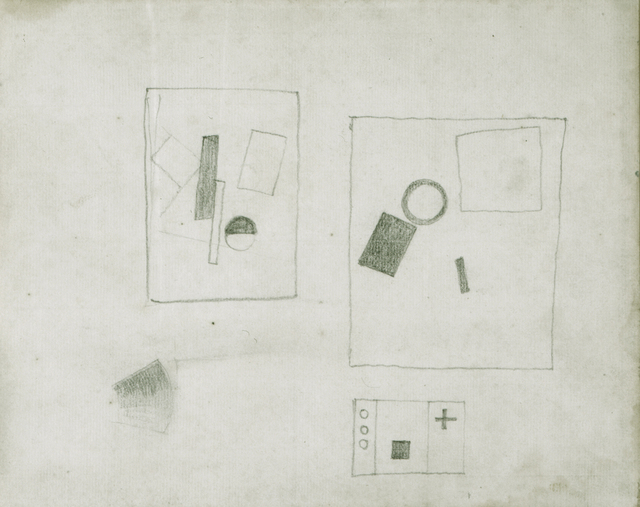, 'Three Suprematist Compositions (motifs of 1915,1917,1920),' ca. 1924, Annely Juda Fine Art