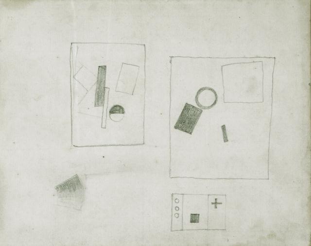, 'Three Suprematist Compositions (motifs of 1915,1917,1920),' ca. 1924, Annely Juda Fine Art