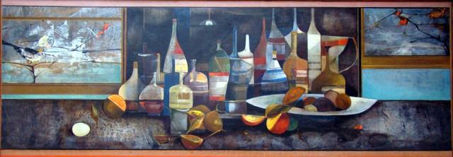 , 'COMPOSIÇÃO COM GARRAFAS E FRUTAS,' 1957-1958, Maurício Pontual Galeria de Arte
