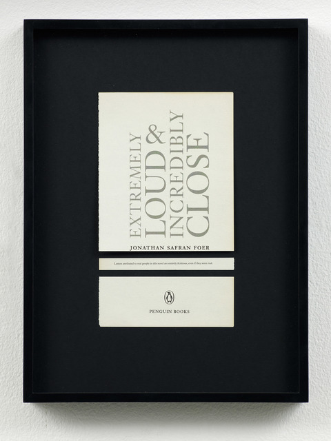 , 'Disclaimers (Jonathan Safran Foer: Extremely Loud and Incredibly Close),' 2014, Galeri NON