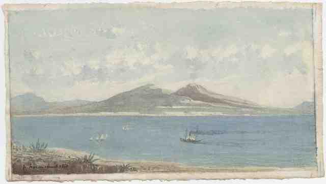 , 'La baie de Naples,' 1850, Stoppenbach & Delestre