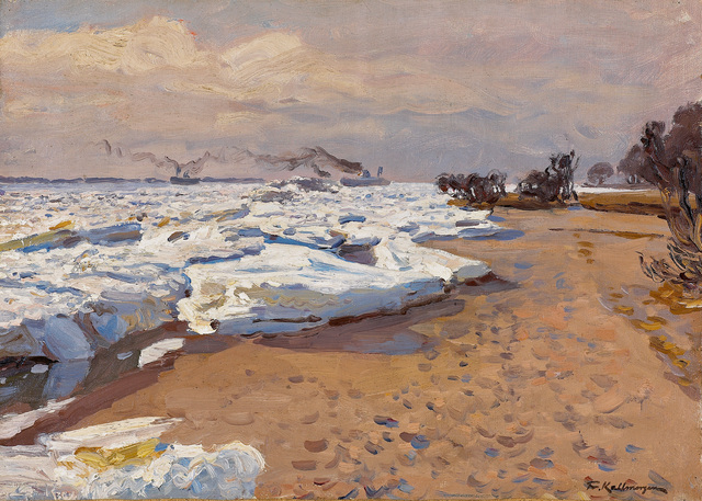 , 'Eisgang auf der Elbe (Ice on the Elbe),' 1900, Galerie Herold