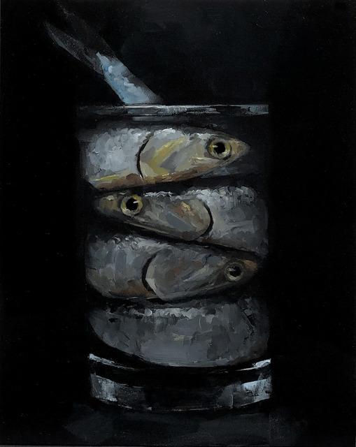 Tom Giesler, 'Floral 51: anchovies', 2021, Painting, Oil on panel, McVarish Gallery
