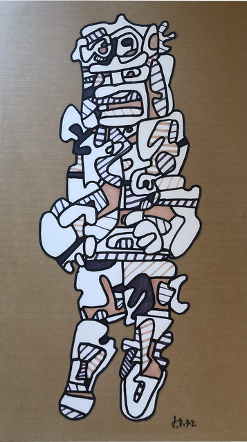 Jean Dubuffet, 'Personnage ', 1972, Late Ninety