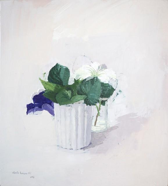 Alberto Romero, 'Realism - flower still life - Oil on panel - flowers 2018', 2018, PontArte