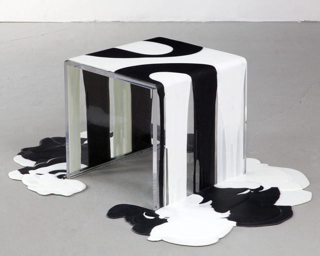 ", 'AFTER LYNDA // Unique ""Pour"" side table,' 2012, R & Company"