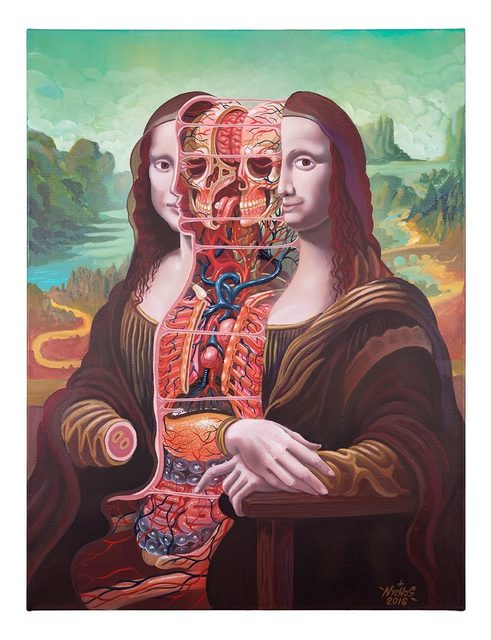 NYCHOS, 'DISSECTION OF MONA LISA', 2017, Marcel Katz Art