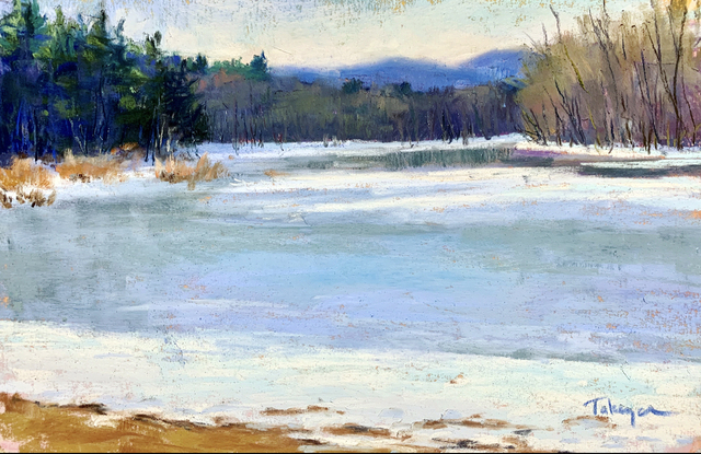 Takeyce Walter, 'Day 3: Icy Boquet Outlet ', February 2020, Painting, Pastels, Keene Arts