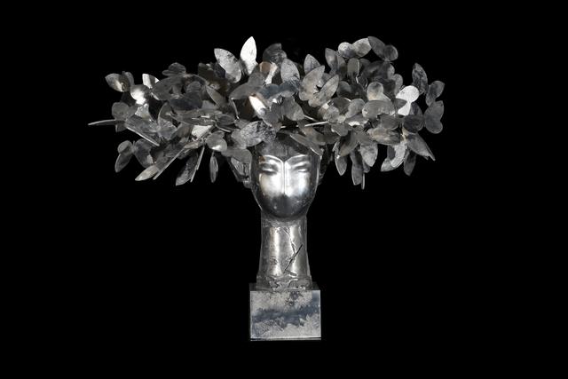 , 'Cabeza con mariposas plateada,' 2009, Opera Gallery