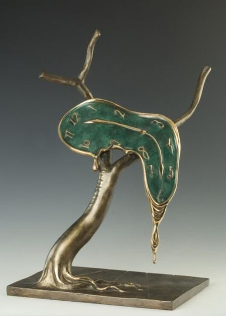 Salvador Dalí, 'Profile of Time', ca. 1984, Sculpture, Bronze and Gold Plating with Green Petina, Hazelton Fine Art Galleries