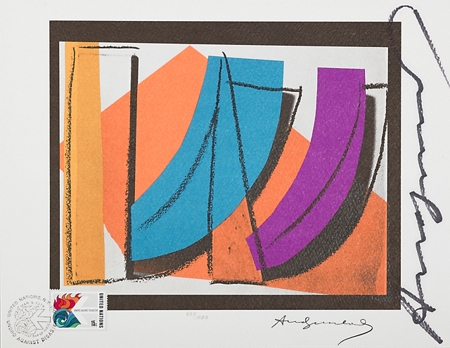 Andy Warhol, 'U.N. Stamp', 1979, Print, Offset lithograph in colors, Rago/Wright