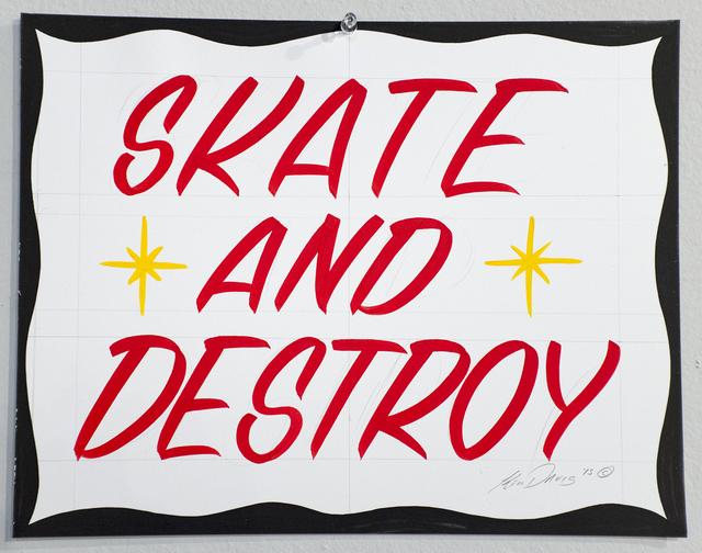 , 'Skate and Destroy,' 2015, ANNO DOMINI