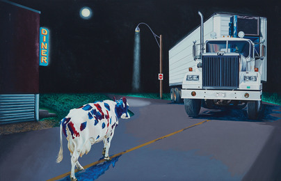 Cow and Truck