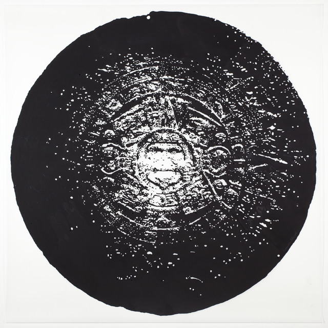, 'Aztec Calendar (Black),' 2012, Erin Cluley Gallery