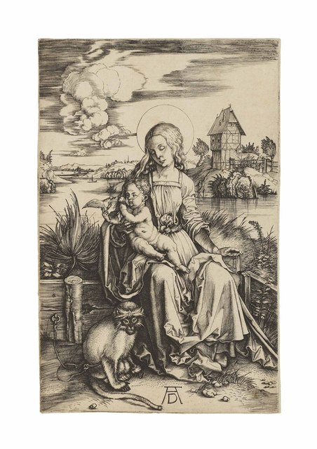 , 'The Virgin and Child with a Monkey (B. 42; M., Holl. 30; S.M.S. 20),' ca. 1498, Christie's Old Masters