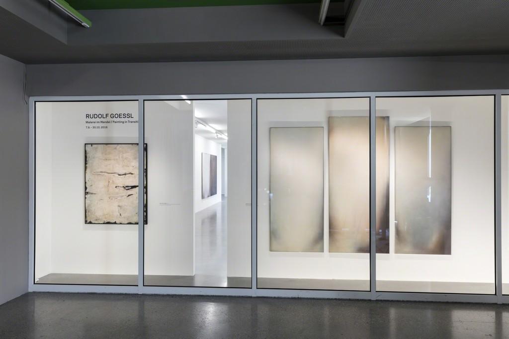 """Exhibition View """"Rudolf Goessl. Painting in Transition"""" Photo: © Belvedere, Vienna"""