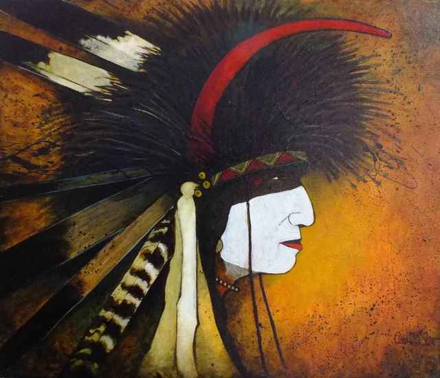 , 'Crazy Dog Warrior - Crow Indian Man,' , Sorrel Sky Gallery