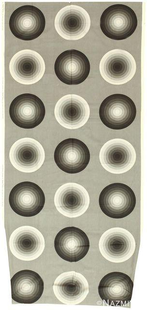Verner Panton, 'Vintage Mid Century Kreis Textile', Mid 20th Century, Nazmiyal Collection