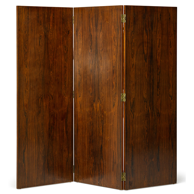 Eugène Printz, 'Three-Panel Screen, France', 1930s, Design/Decorative Art, Rosewood, Brass, Rago/Wright