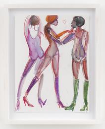 Three Nudes in Heels
