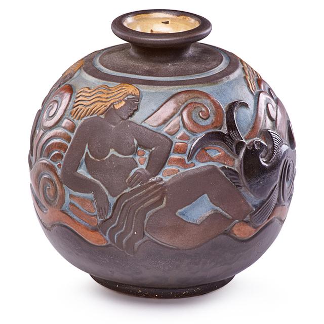 Joseph Mougin, 'Art Deco Vase With Nudes And Fish, France', 1920s-30s, Rago/Wright