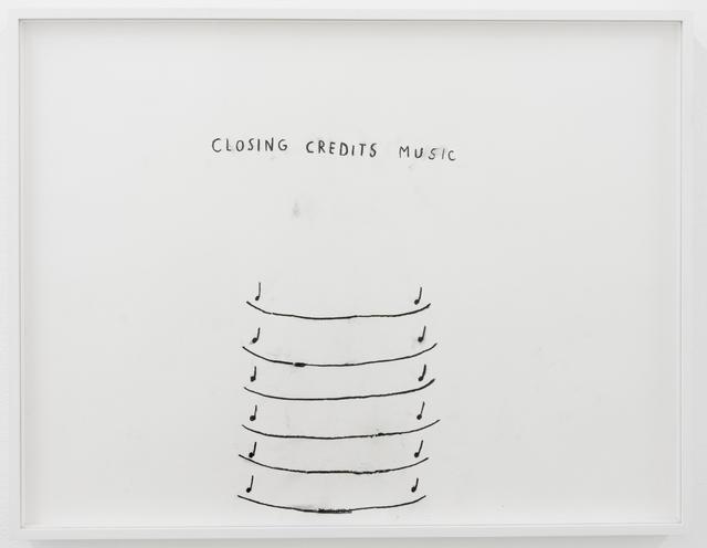 , 'Closing Credits Music,' 2016, François Ghebaly