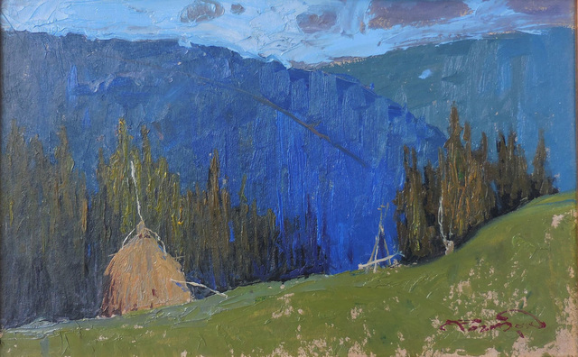 , 'Haystack with Blue Sky,' , Abend Gallery