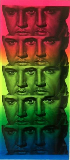 Ron English, 'Rainbow Elvis II', 2012, Gregg Shienbaum Fine Art