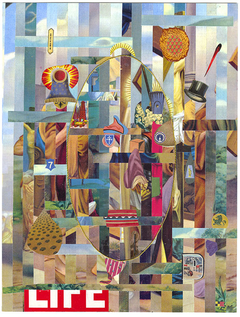 Lou Beach, 'Nazz VII', 2017, Drawing, Collage or other Work on Paper, Collage of printed ephemera, Craig Krull Gallery